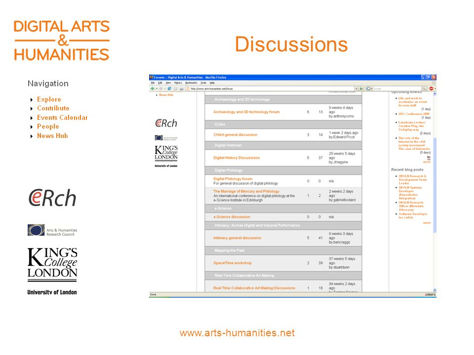 www.arts-humanities.net Discussions