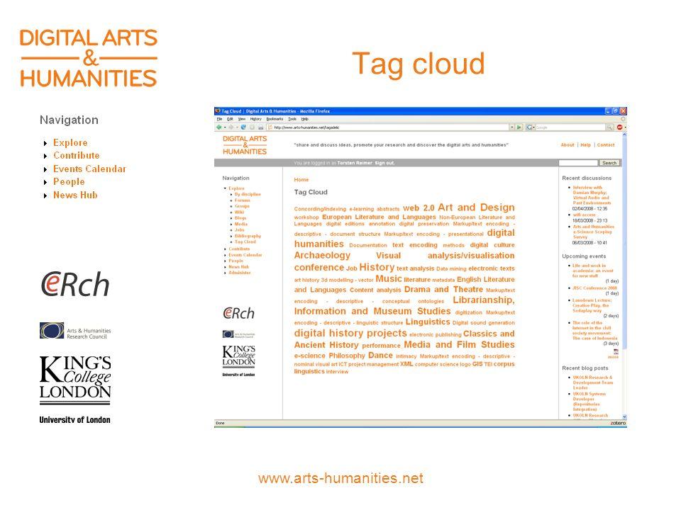 www.arts-humanities.net Tag cloud