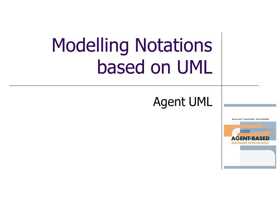 Modelling Notations based on UML Agent UML