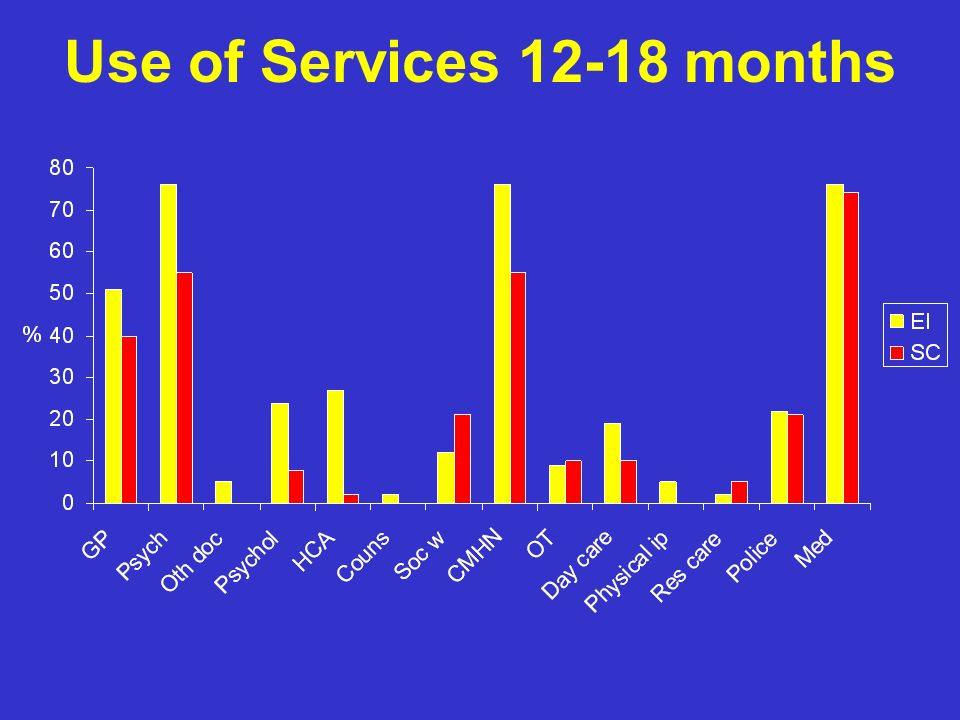 Use of Services 12-18 months