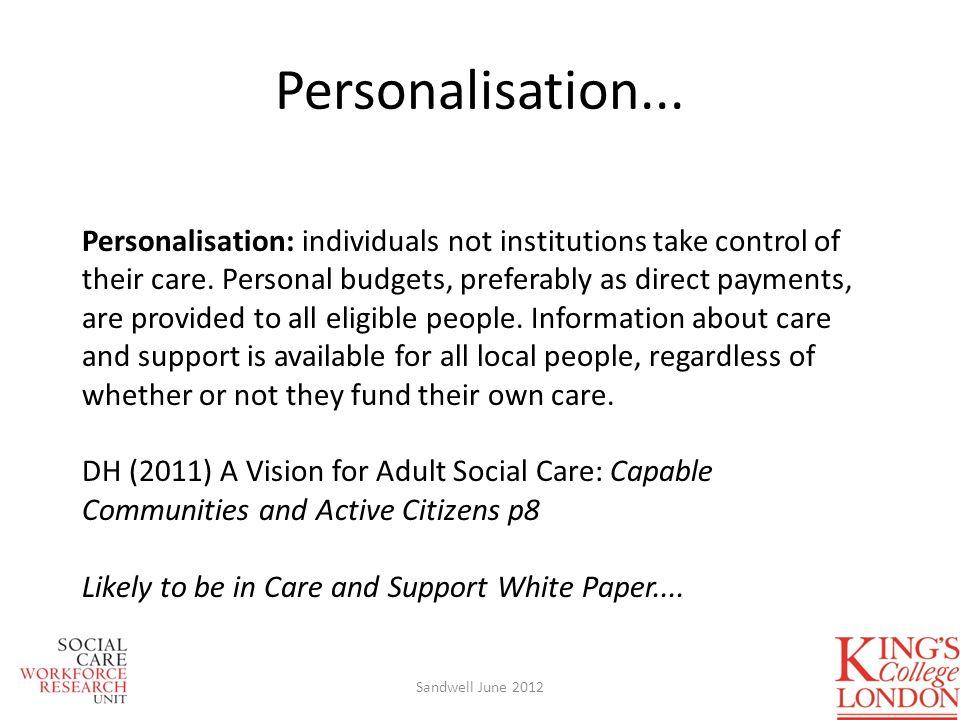 Personalisation...
