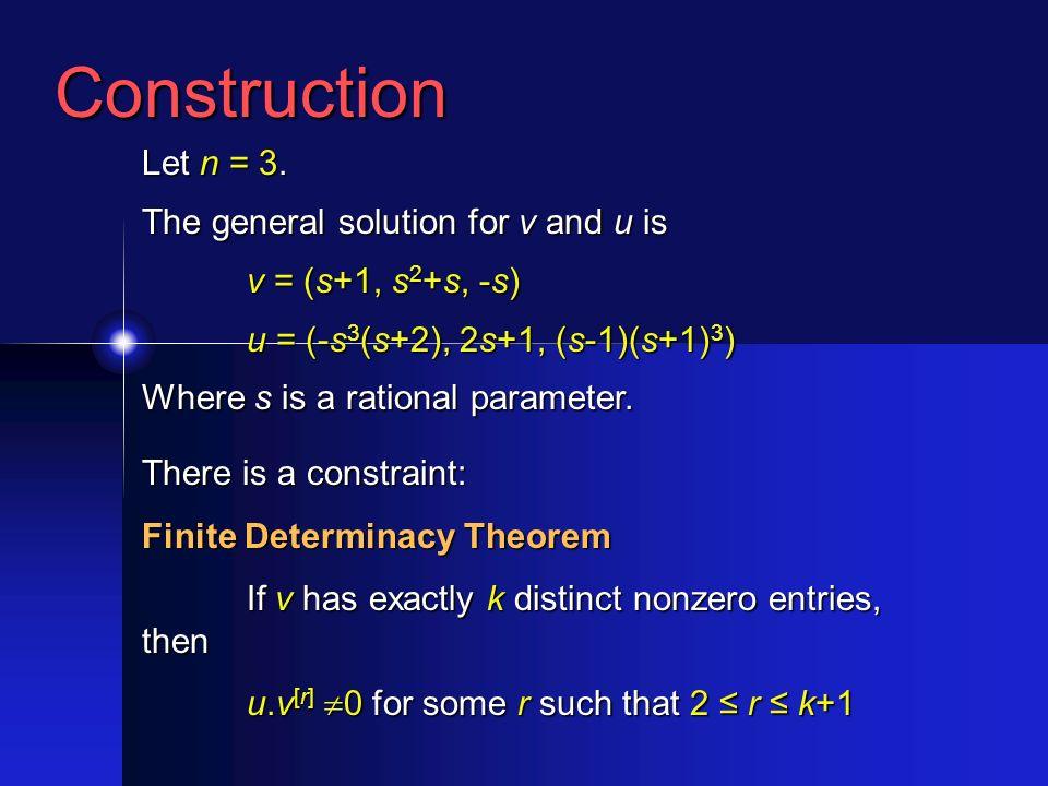 Construction Let n = 3.
