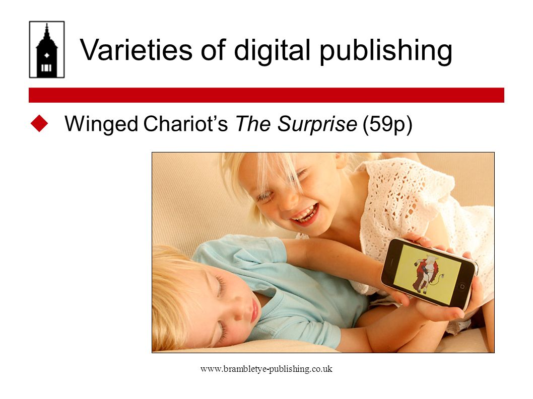 Varieties of digital publishing Winged Chariots The Surprise (59p)