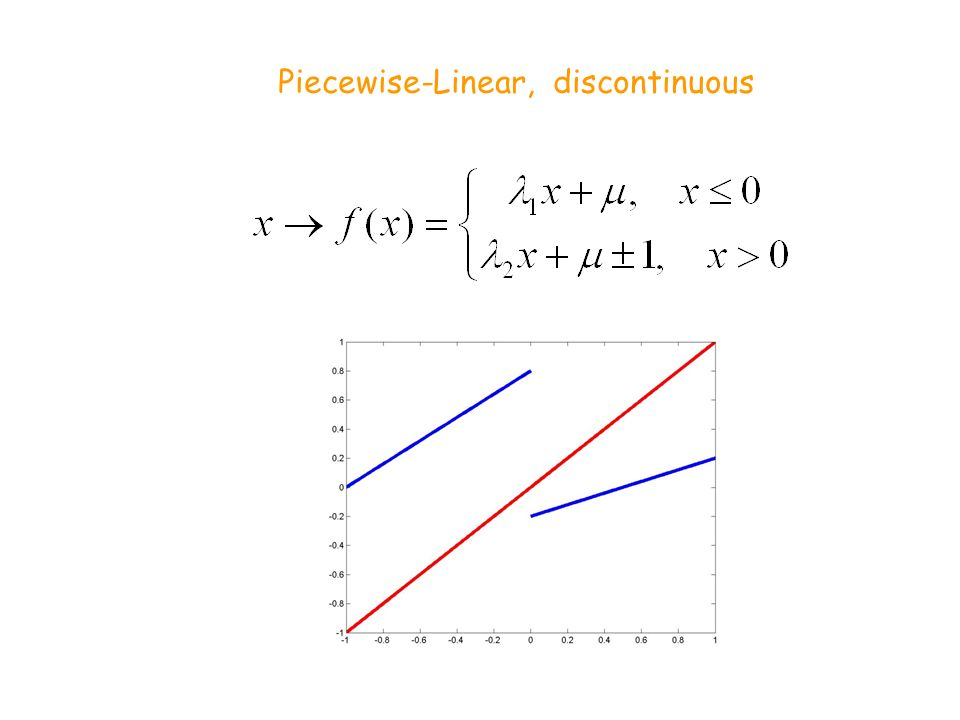 Piecewise-Linear, discontinuous