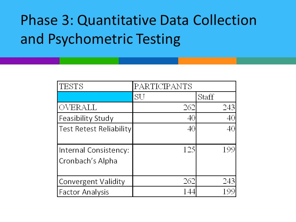 Phase 3: Quantitative Data Collection and Psychometric Testing