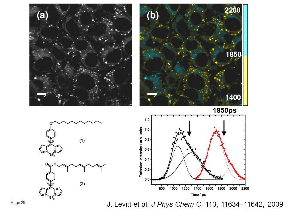 Page 29 1850ps J. Levitt et al, J Phys Chem C, 113, 11634–11642, 2009