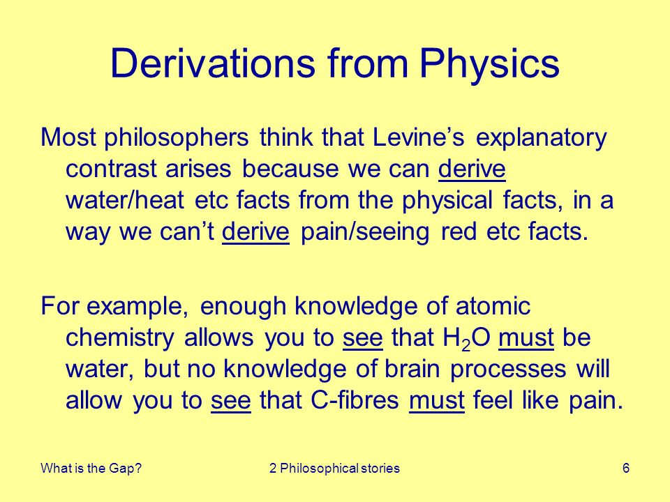 What is the Gap?3 Gap diagnosed17 Good Theories and Bad Intuitions Unlike Kripke, I dont think this is a big problem for physicalism.