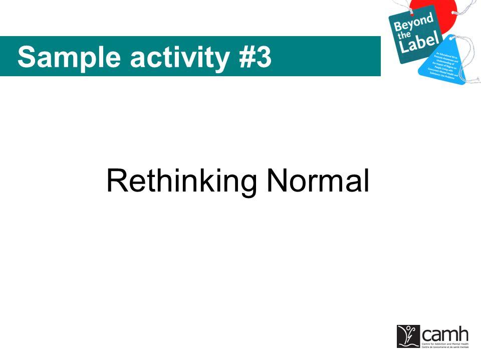 Rethinking Normal Sample activity #3