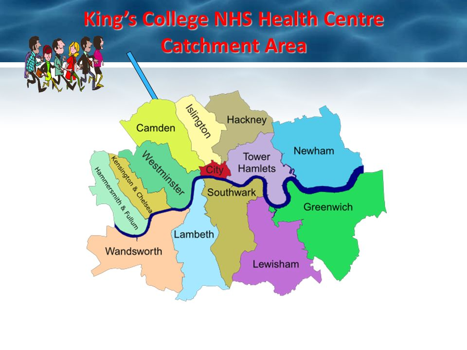 Kings College NHS Health Centre Catchment Area
