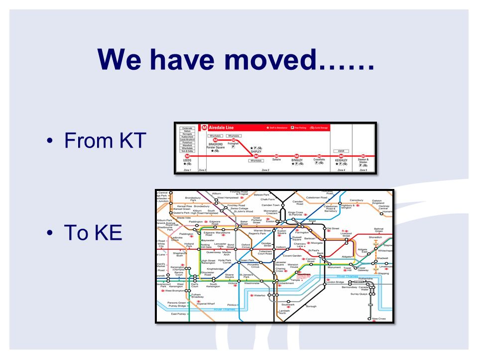 We have moved…… From KT To KE