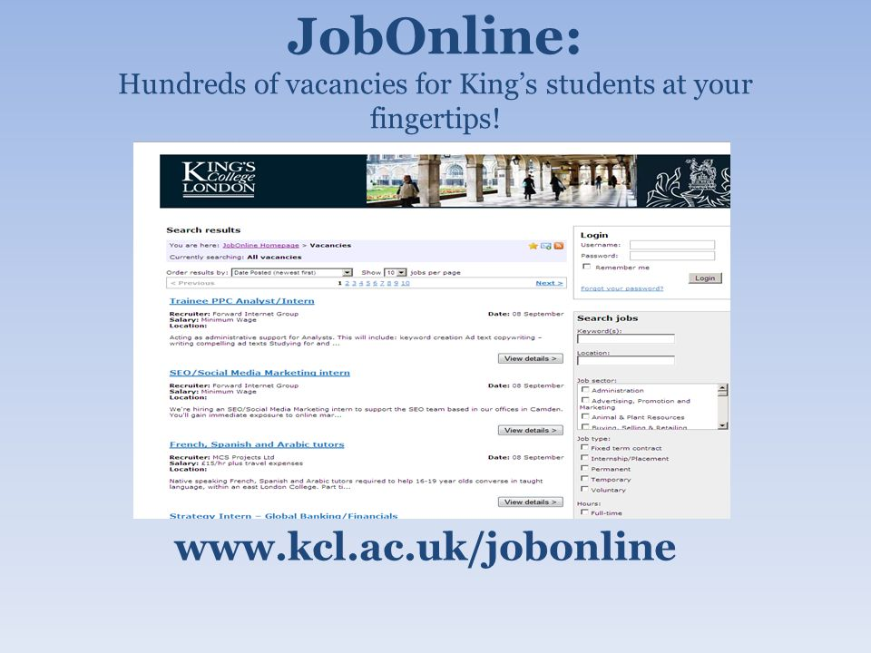 On-Campus Vacancies www.directtemping.com/register/kcl