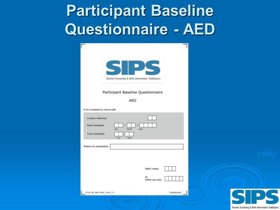 Participant Baseline Questionnaire - AED