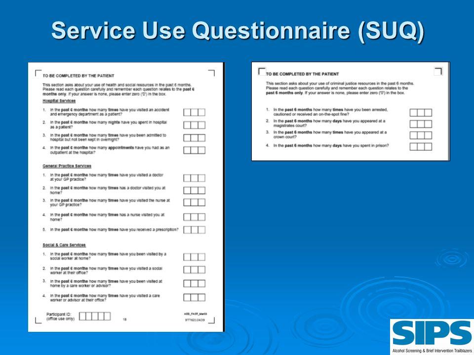 Service Use Questionnaire (SUQ)