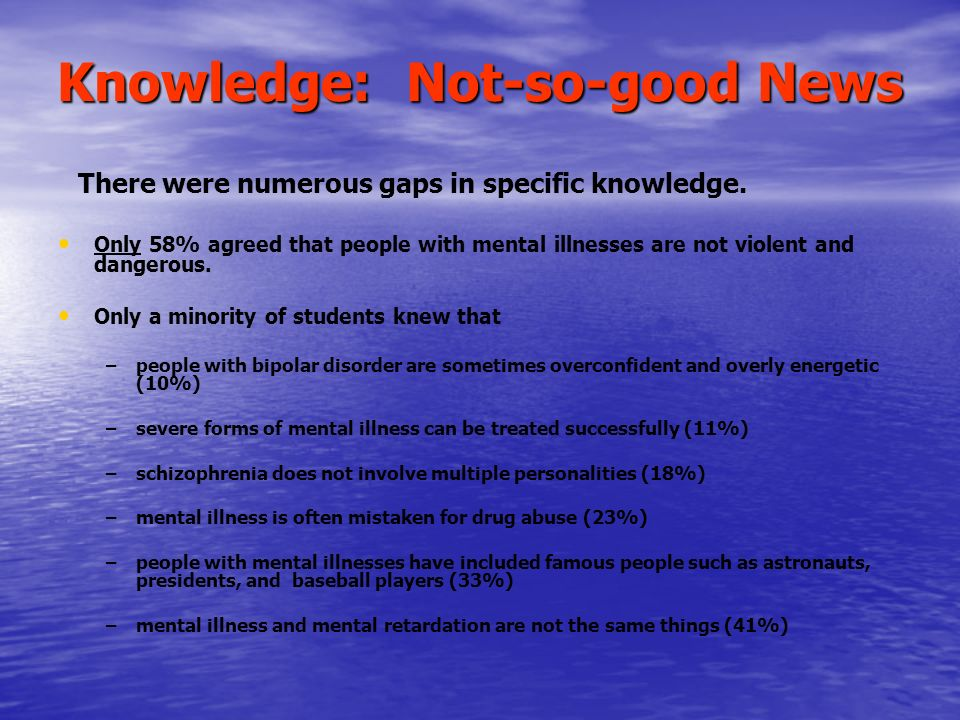 Attitudes and Social Distance: The Good News Expressed attitudes were generally positive.
