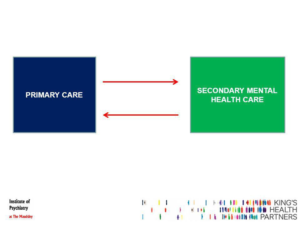 PRIMARY CARE SECONDARY MENTAL HEALTH CARE