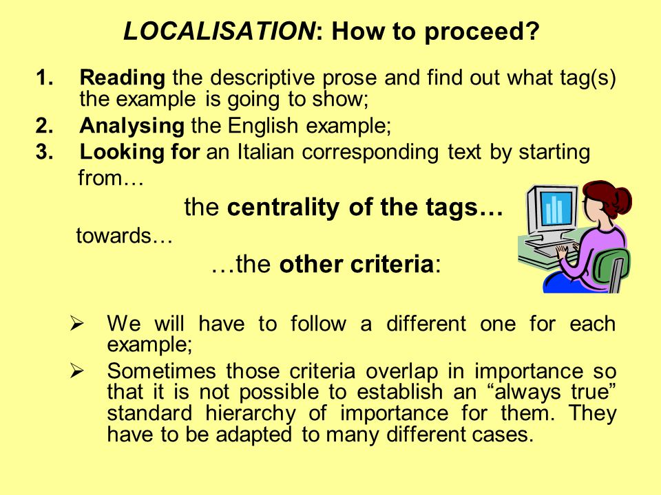 LOCALISATION: How to proceed.