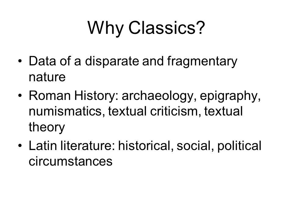 Why Classics.