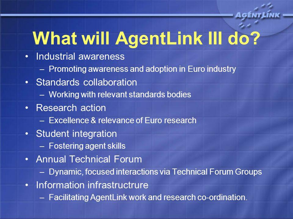 What will AgentLink III do.