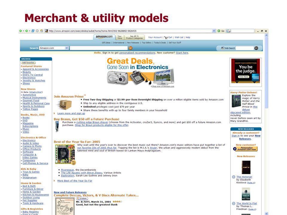 Merchant & utility models