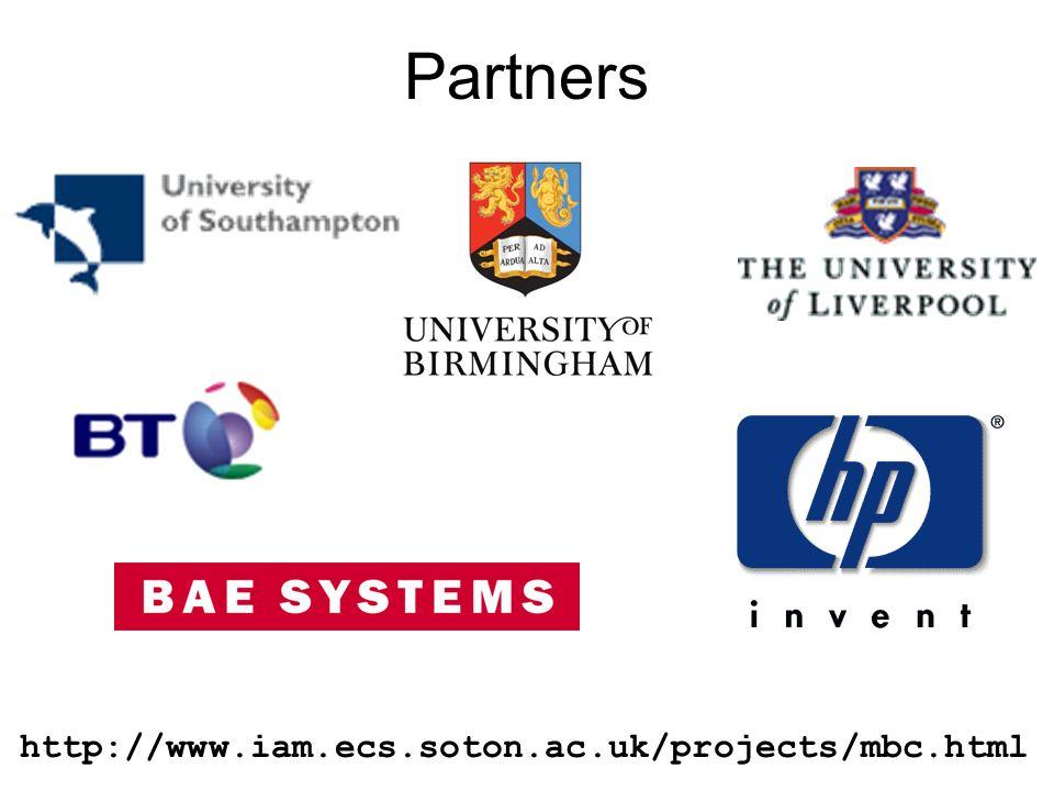 44 Partners http://www.iam.ecs.soton.ac.uk/projects/mbc.html