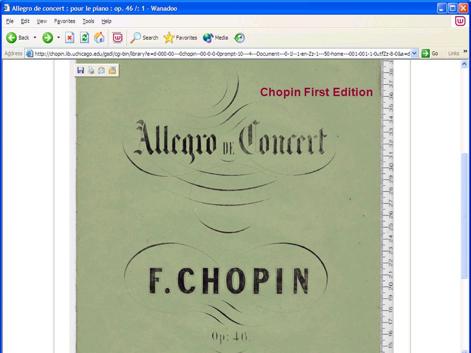 Chopin First Edition