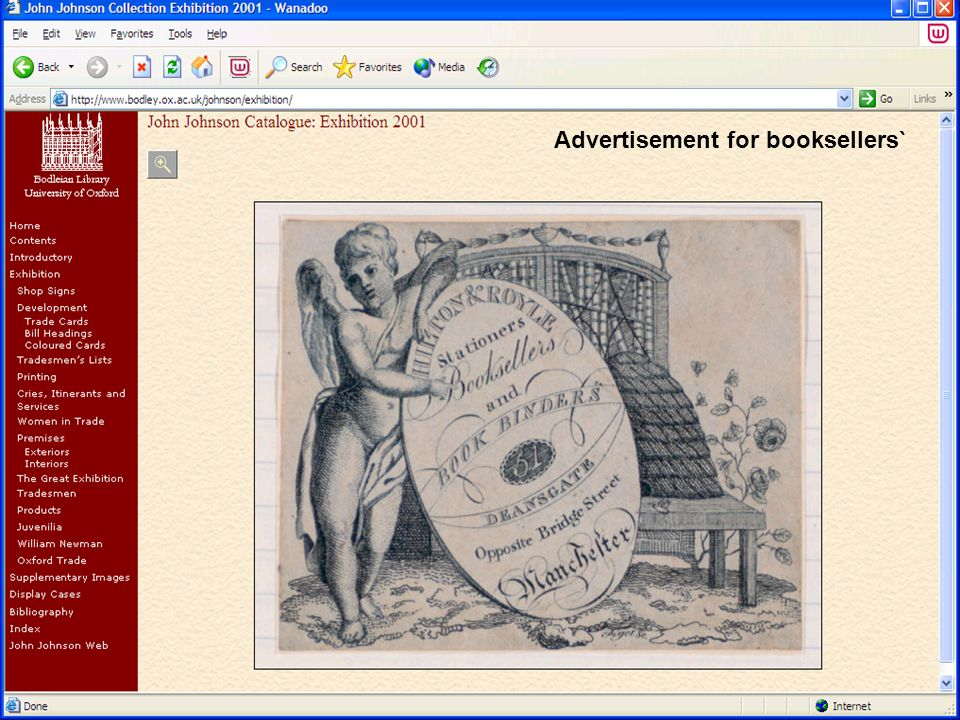 Advertisement for booksellers`