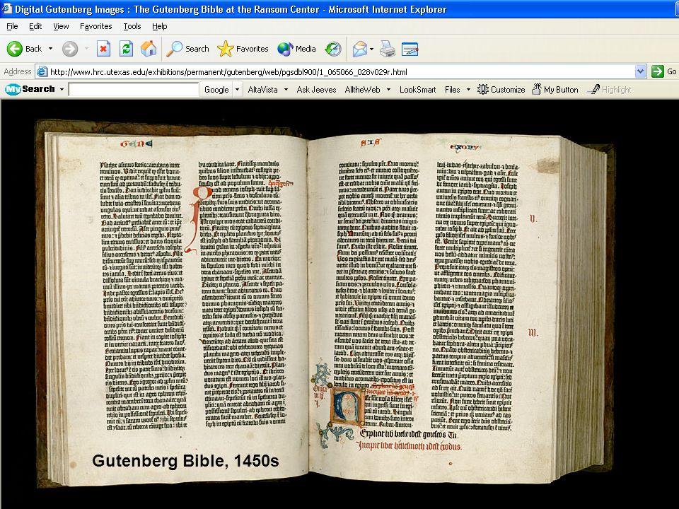 Gutenberg Bible, 1450s