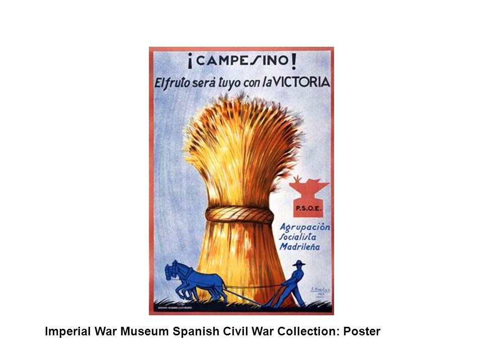 Imperial War Museum Spanish Civil War Collection: Poster