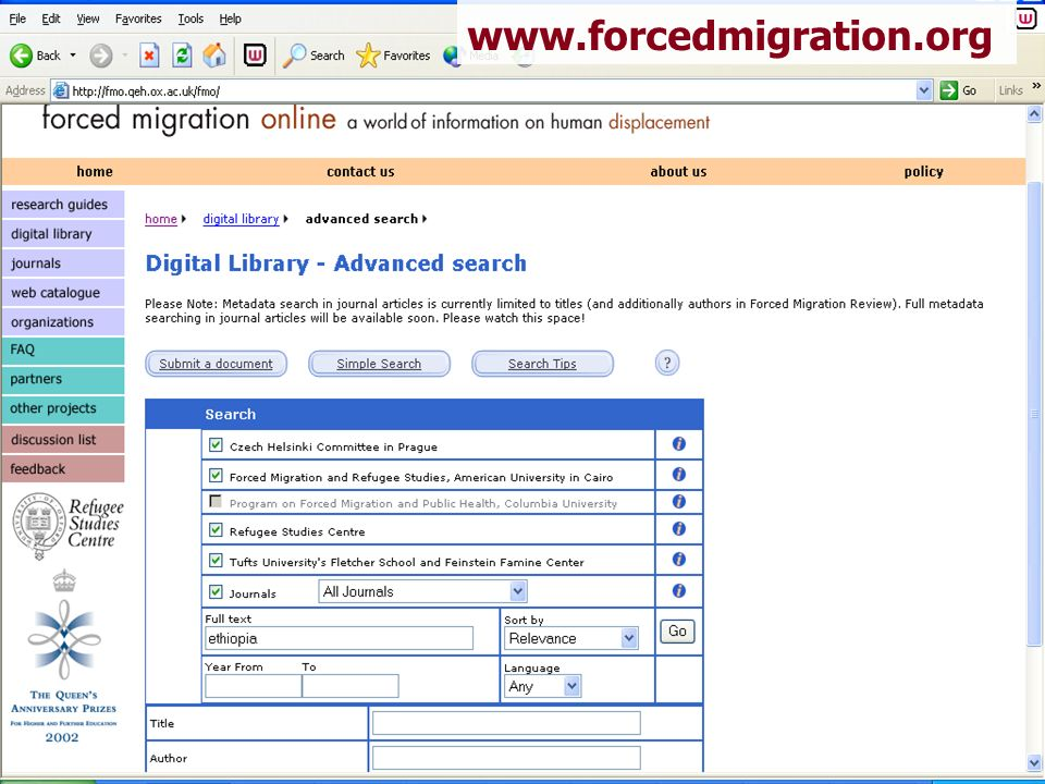 www.forcedmigration.org