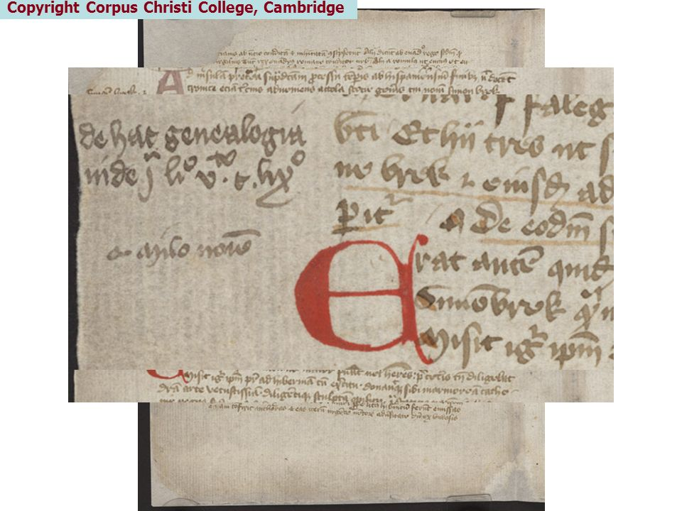 Copyright Corpus Christi College, Cambridge