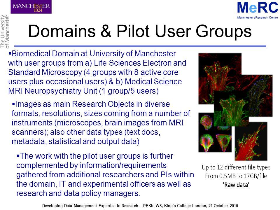 Developing Data Management Expertise in Research – PEKin WS, Kings College London, 21 October 2010 MaDAM Method-flow
