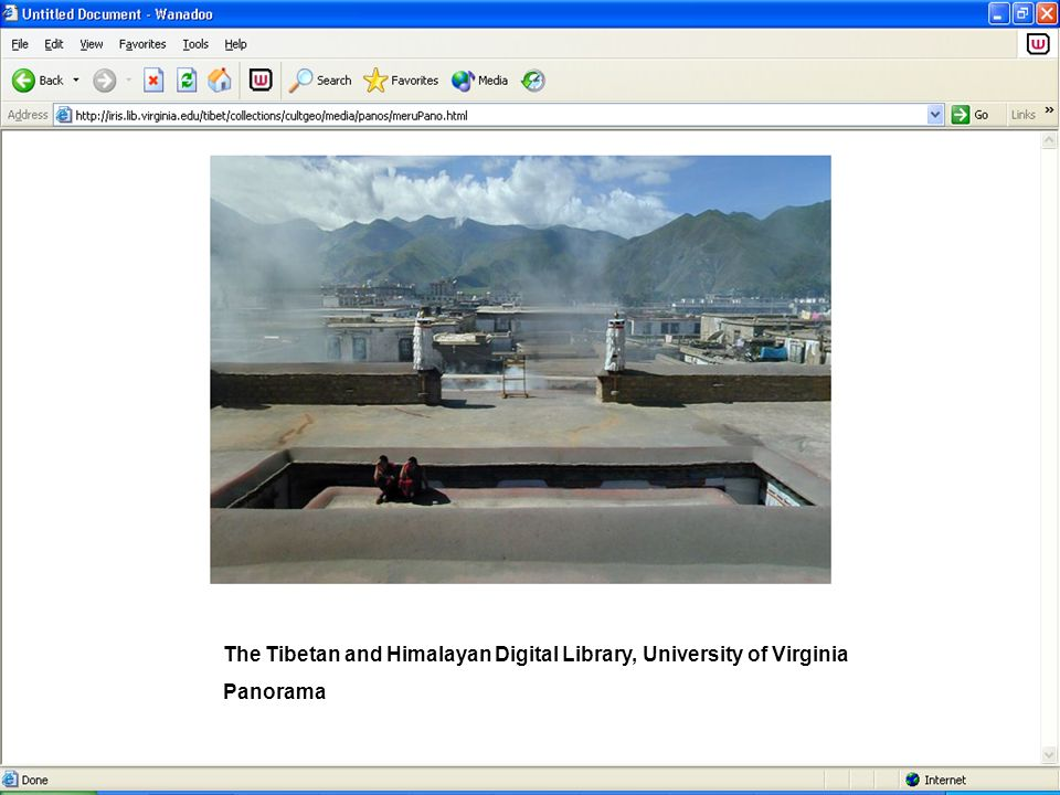 The Tibetan and Himalayan Digital Library, University of Virginia Panorama