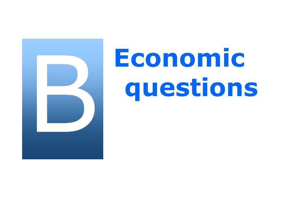 B Economic questions