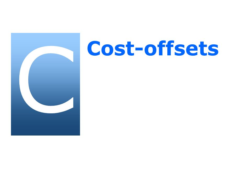 C Cost-offsets