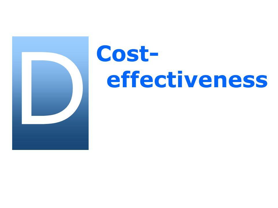 D Cost- effectiveness