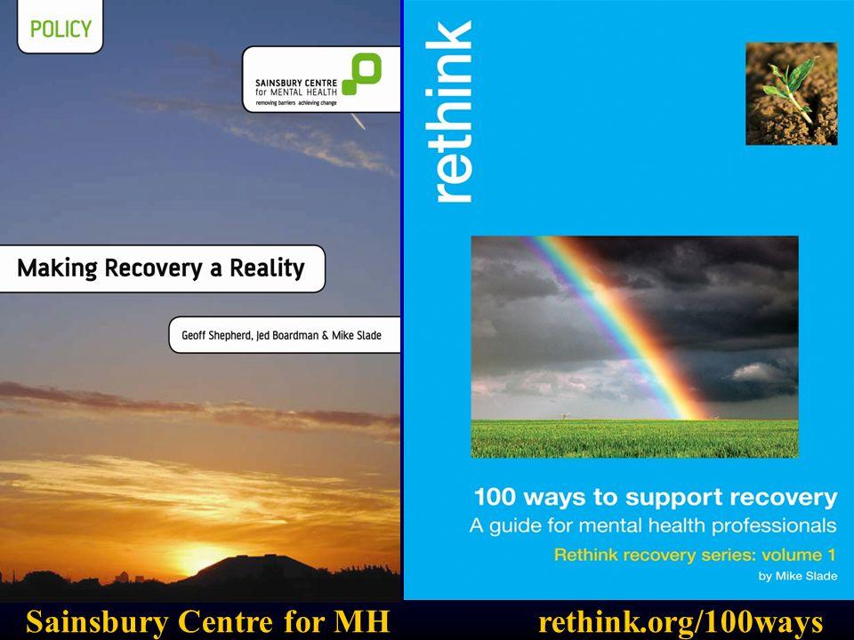Sainsbury Centre for MHrethink.org/100ways