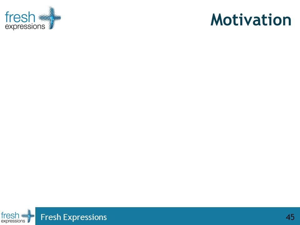 Motivation Fresh Expressions45