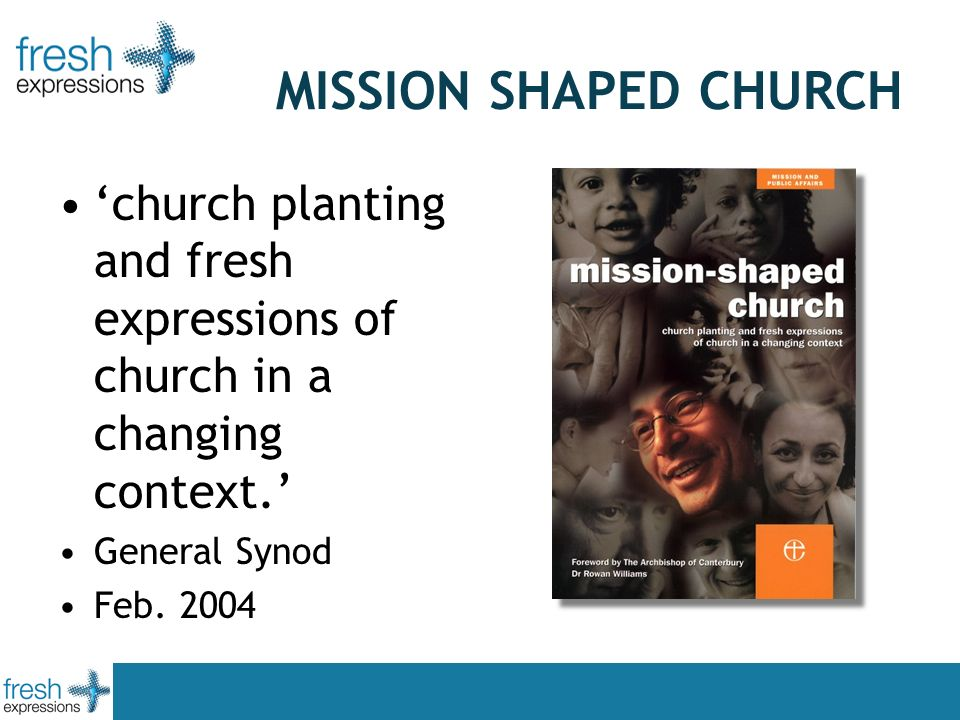 MISSION SHAPED CHURCH church planting and fresh expressions of church in a changing context.
