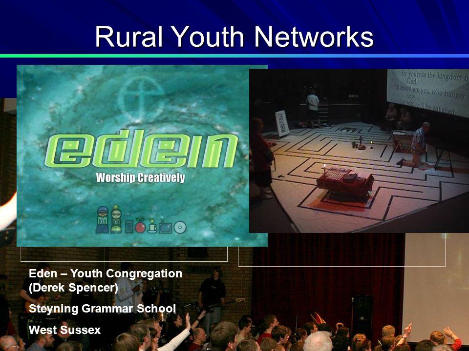 Rural Youth Networks Eden – Youth Congregation (Derek Spencer) Steyning Grammar School West Sussex