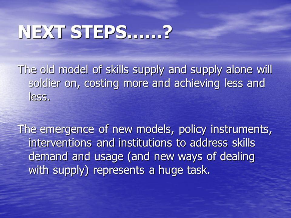 NEXT STEPS…….