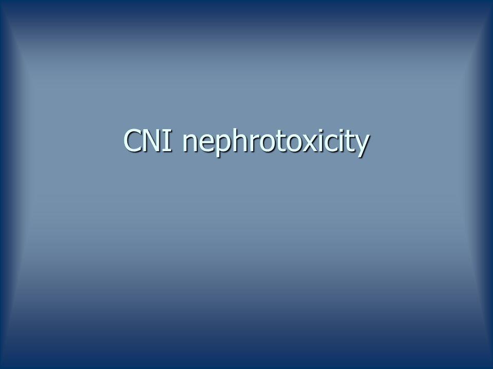 CNI nephrotoxicity