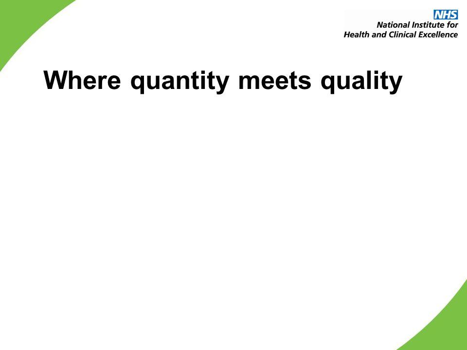 Where quantity meets quality