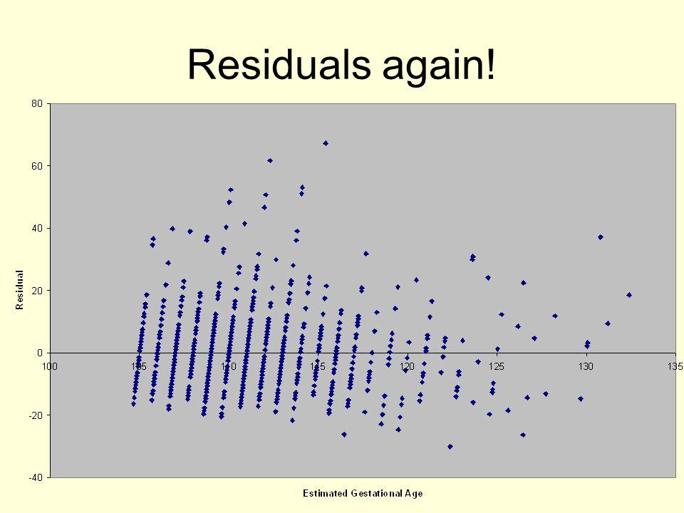 Residuals again!