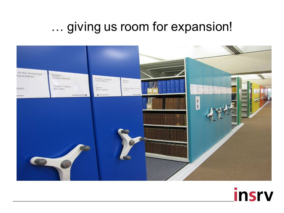 … giving us room for expansion!