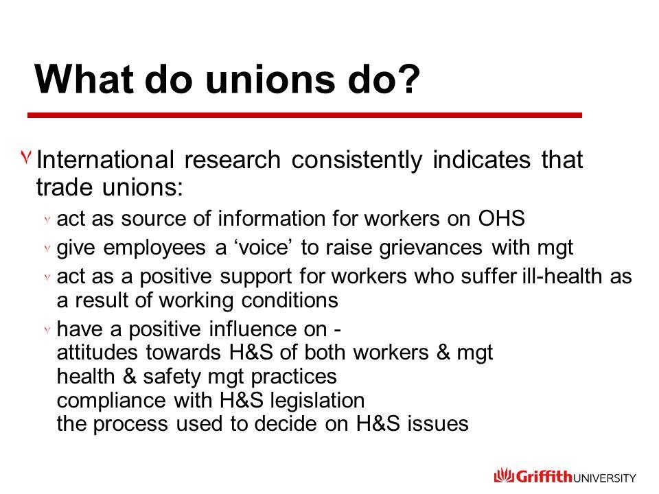 What do unions do.