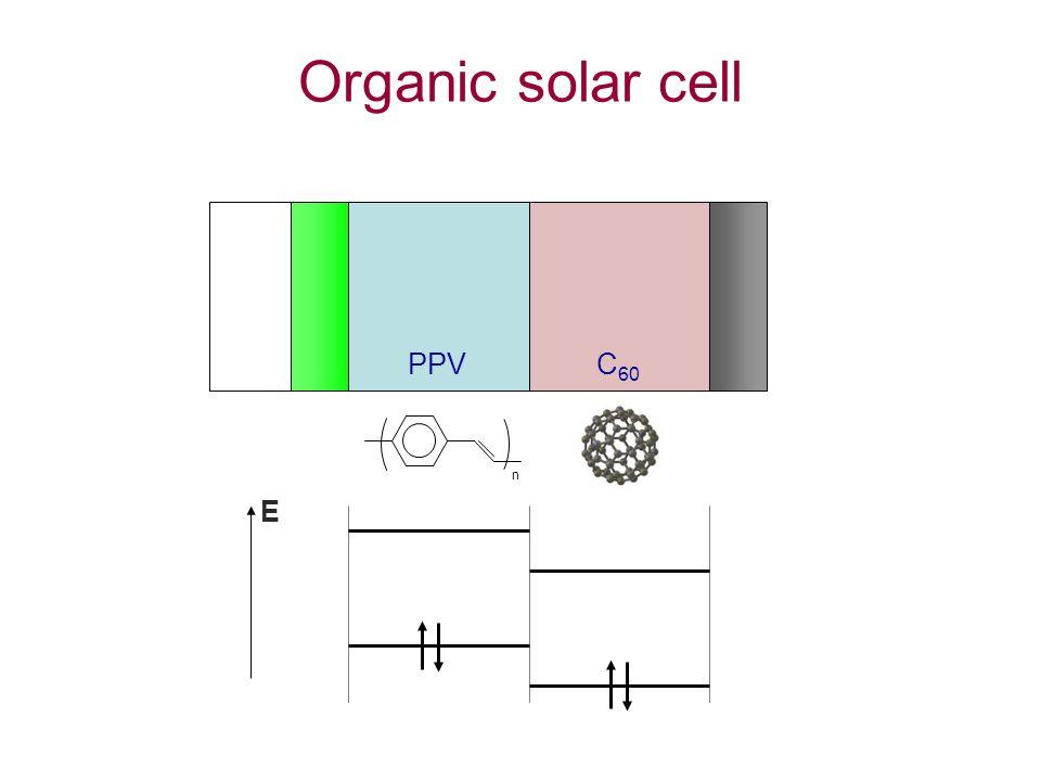 Organic solar cell n C 60 PPV E