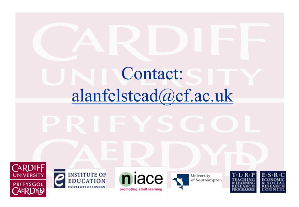 Contact: alanfelstead@cf.ac.uk