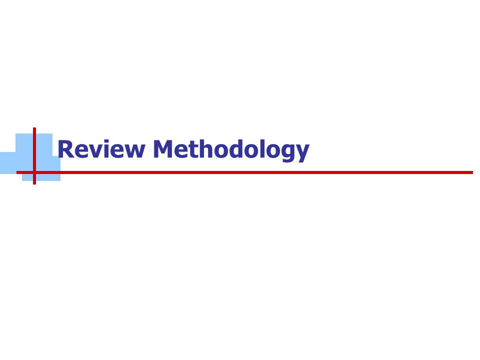 Review Methodology