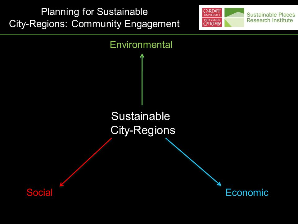Sustainable City-Regions Environmental Planning for Sustainable City-Regions: Community Engagement SocialEconomic