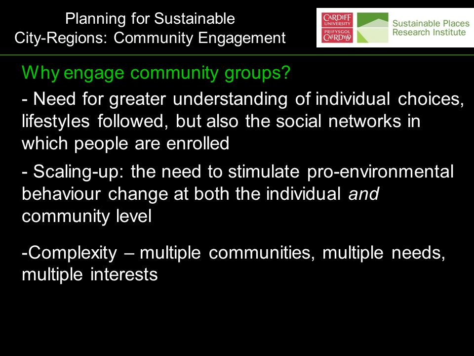 How to engage whole communities.